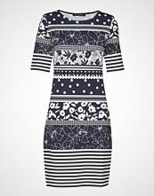 Betty Barclay Dress Short 1/2 Sleeve Knelang Kjole Blå BETTY BARCLAY