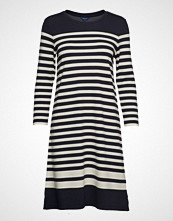 Gant D1. Striped Shift Dress Knelang Kjole Blå GANT