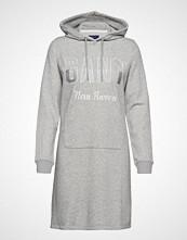 Gant D1. Gant N.H Hoodie Dress Kort Kjole Grå GANT