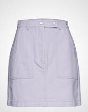 Tommy Jeans Tjw Solid Carpenter Mini Skirt Kort Skjørt Lilla TOMMY JEANS