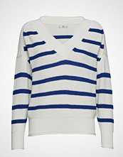 Mango Striped Cotton Sweater Strikket Genser Hvit MANGO