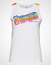 Cènnìs Tank Top T-shirts & Tops Sleeveless Hvit CHAMPION