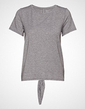GAP Ss Br Tie Back Tee T-shirts & Tops Short-sleeved Grå GAP