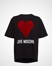 Love Moschino W4f8721m3517 T-shirts & Tops Short-sleeved Svart LOVE MOSCHINO
