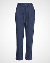 Tommy Jeans Tjw Solid Bow Detail Bukser Med Rette Ben Blå TOMMY JEANS