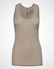 Schiesser Top T-shirts & Tops Sleeveless Beige SCHIESSER