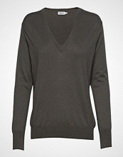Filippa K Silk Mix V-Neck Sweater Strikket Genser Grå FILIPPA K