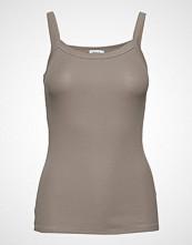 Filippa K Fine Rib Singlet T-shirts & Tops Sleeveless Beige FILIPPA K