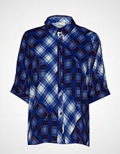 Gestuz Luannegz Shirt Ma19 Bluse Kortermet Blå GESTUZ
