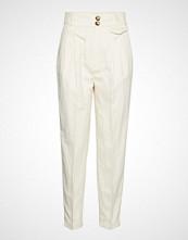 Mango High-Waist Straight Trousers Bukser Med Rette Ben Creme MANGO