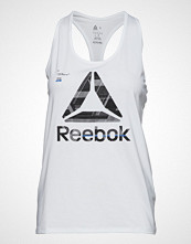 Reebok Performance Os Ac Graphic Tank T-shirts & Tops Sleeveless Hvit REEBOK PERFORMANCE