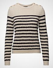 Stella Nova Cotton/Wool Strikket Genser Creme STELLA NOVA