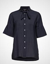 Soaked in Luxury Sl Valora Shirt Ss Bluse Kortermet Blå SOAKED IN LUXURY