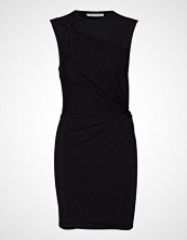 T by Alexander Wang Twisted Crepe Jersey Minidress Knelang Kjole Svart T BY ALEXANDER WANG