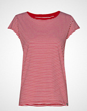 Mads Nørgaard Organic Favorite Stripe Teasy T-shirts & Tops Short-sleeved Rød MADS NØRGAARD