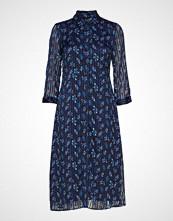 Yas Yasricha 3/4 Midi Dress Knelang Kjole Blå YAS