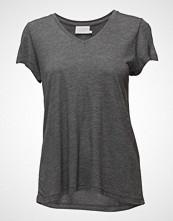 Kaffe Anna V-Neck T-Shirt T-shirts & Tops Short-sleeved Grå KAFFE