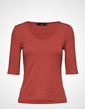 Mango Essential Cotton-Blend T-Shirt T-shirts & Tops Short-sleeved Rød Mango