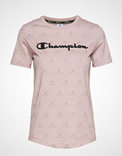 Cènnìs Crewneck T-Shirt T-shirts & Tops Short-sleeved Rosa CHAMPION