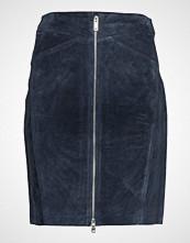 Mango Leather Miniskirt Kort Skjørt Blå MANGO