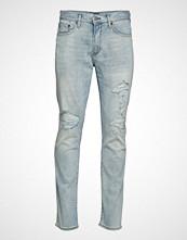 GAP Slim Ltwt Bleach Destroy Slim Jeans Blå GAP
