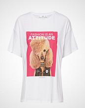 Mango Printed Picture Cotton T-Shirt T-shirts & Tops Short-sleeved Hvit MANGO