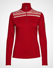 Dale of Norway Cortina Basic Feminine Sweater Høyhalset Pologenser Rød DALE OF NORWAY
