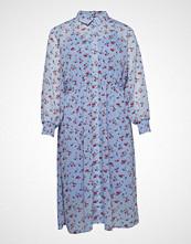 Zizzi Xoanna, Maxi Dress Knelang Kjole Blå ZIZZI