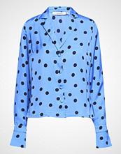 Gestuz Elsie Shirt Ze2 18 Bluse Langermet Blå GESTUZ