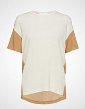 BOSS Business Wear Efira T-shirts & Tops Short-sleeved Creme BOSS BUSINESS WEAR