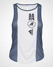 Adidas Performance Moto Graph Tank T-shirts & Tops Sleeveless Hvit ADIDAS PERFORMANCE