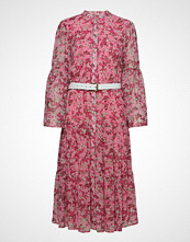 Michael Kors Enchanted Bloom Dress Knelang Kjole Rosa MICHAEL KORS