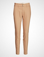 Mos Mosh Blake Night Pant Sustainable Bukser Med Rette Ben Beige MOS MOSH