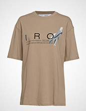 Iro Olcott T-shirts & Tops Short-sleeved Beige IRO