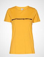Ichi Ihliberte Ss2 T-shirts & Tops Short-sleeved Gul ICHI