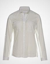 Violeta by Mango Micro Print Shirt Langermet Skjorte Hvit VIOLETA BY MANGO