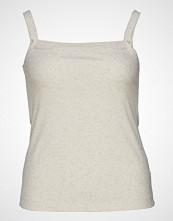 Violeta by Mango Ribbed Top T-shirts & Tops Sleeveless Creme VIOLETA BY MANGO