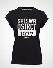 Craft District Clean Tee W T-shirts & Tops Short-sleeved Svart CRAFT