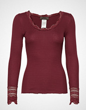 Rosemunde Silk T-Shirt Regular Ls W/Wide Lace T-shirts & Tops Long-sleeved Rød ROSEMUNDE