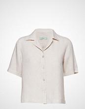 Morris Lady Donna Linen Blouse Bluse Kortermet Creme MORRIS LADY