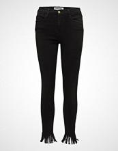 FRAME Le High Skny Fringe Skinny Jeans Svart FRAME