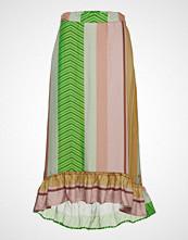 Coster Copenhagen Skirt In Stroke Print Knelangt Skjørt Multi/mønstret COSTER COPENHAGEN