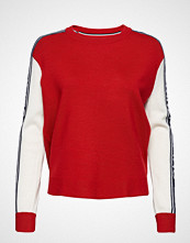 Tommy Jeans Tjw Colorblock Sweater Strikket Genser Rød TOMMY JEANS
