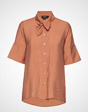 Soaked in Luxury Sl Valora Shirt Ss Bluse Kortermet Brun SOAKED IN LUXURY