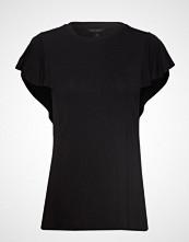 Banana Republic Ss Soft Stretch Flounce Slv Tee T-shirts & Tops Short-sleeved Svart BANANA REPUBLIC