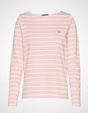 Gant Breton Stripe Boatneck Jumper T-shirts & Tops Long-sleeved Rosa GANT