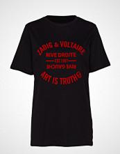 Zadig & Voltaire Bella Blason T-shirts & Tops Short-sleeved Svart ZADIG & VOLTAIRE
