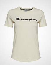 Cènnìs Crewneck T-Shirt T-shirts & Tops Short-sleeved Creme CHAMPION