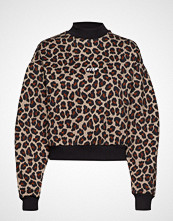 MSGM Animalier Printed Cotton Fleece Sweatshirt Strikket Genser Brun MSGM