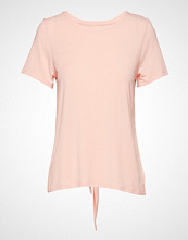 GAP Ss Br Tie Back Tee T-shirts & Tops Short-sleeved Rosa GAP
